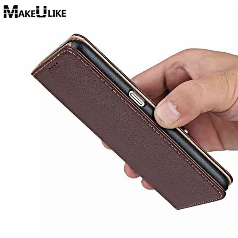 MAKEULIKE Véritable Étui En Cuir Pour Samsung Galaxy S6 G9200 De Luxe Magnétique Flip Couverture Pour Samsung S6 Stand Téléphone Sacs Cas