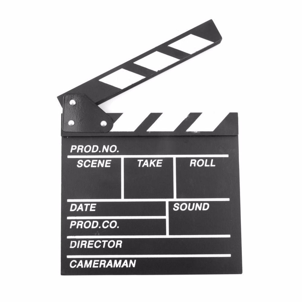 Director Video Szene Clapperboard TV Movie Clapper Board Filmklappe Cut Prop