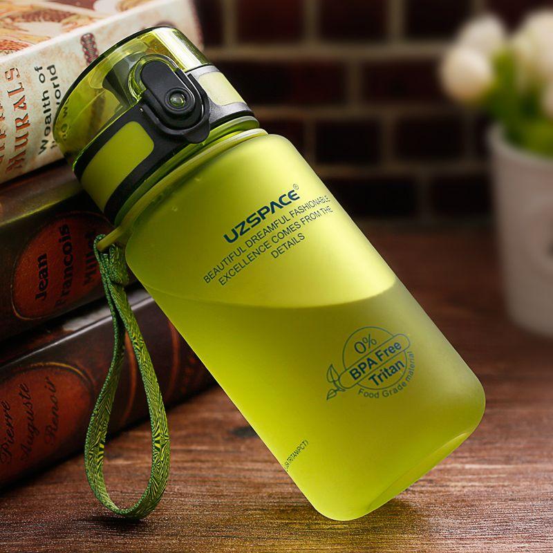 2017 Vente Ciq Adultes De L'eau Bouteille Protéines Shaker Uzspace Nouveau 350 ml bouteille Sans Bpa Vélo Voyage Tasse Donner Vous Santé Chaque Jour