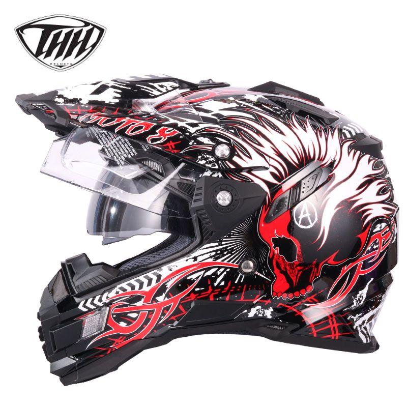 THH tx27 motorcycle helmets ATV motocorss racing off <font><b>road</b></font> helmets Casco Capacetes casque moto DOT approved M L XL XXL