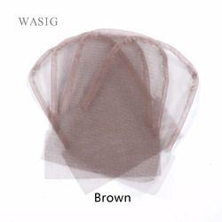 Dentelle fermeture frontale base 4x4 pouce brun couleur suisse dentelle perruque caps pour la fabrication de fermeture 1 pcs/lot
