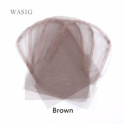 Lace closure frontal base 4x4inch brown color swiss lace wig caps for making closure 1pcs/lot
