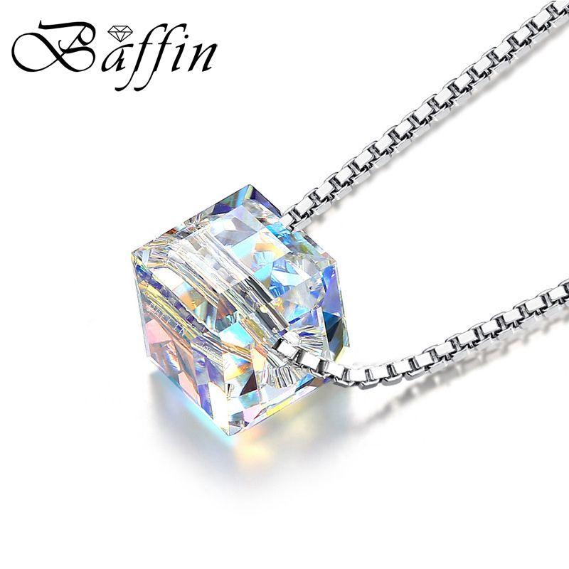 BAFFIN Cristales De SWAROVSKI ELEMENTS Collar de Colgantes de Perlas Plata de Ley 925 Collares de Cadena Para Las Mujeres Wedding Chic Regalos