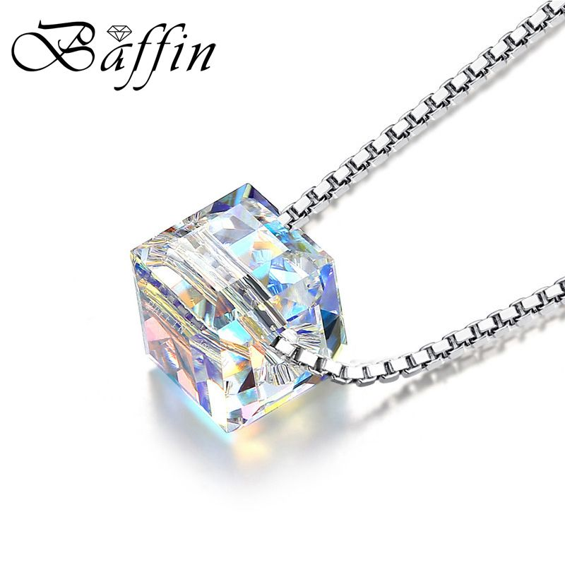 BAFFIN Crystals From SWAROVSKI Elements Beads Necklace Pendants 925 Sterling Silver Chain Necklaces For Women Wedding Chic Gift