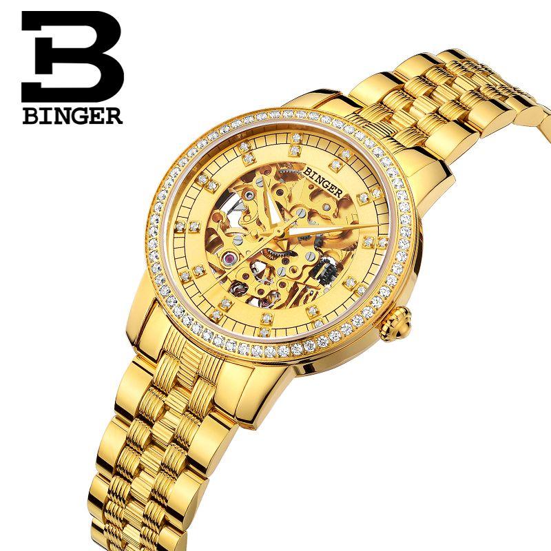 Binger Watch Women Luxury Brand Miyota Automatic Mechanical Movement Watches Sapphire Waterproof Ladies Watch 5051L3