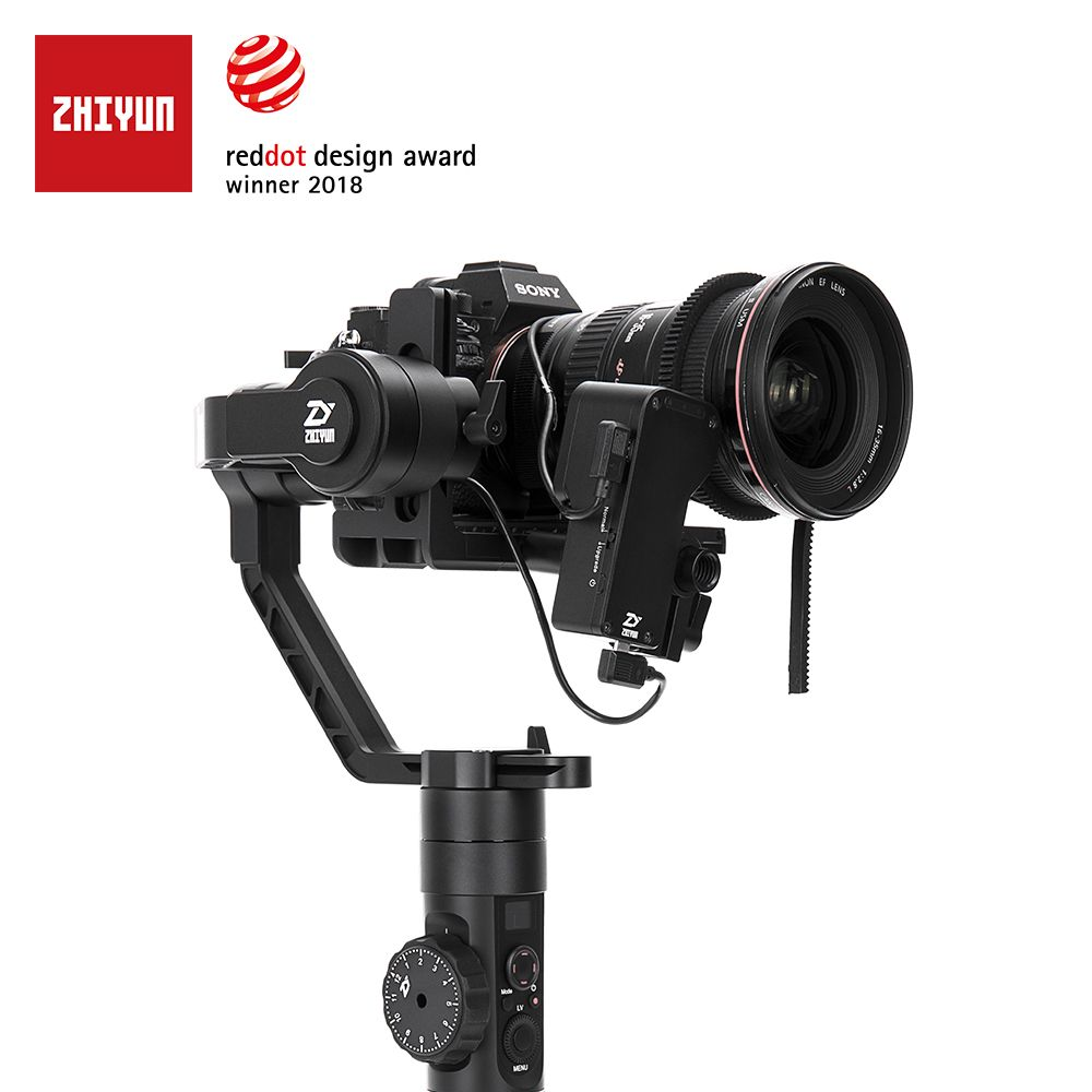 ZHIYUN Official Crane 2 3-Axis Camera Stabilizer for DSLR Mirrorless Camera Canon Sony P with Servo Follow Focus