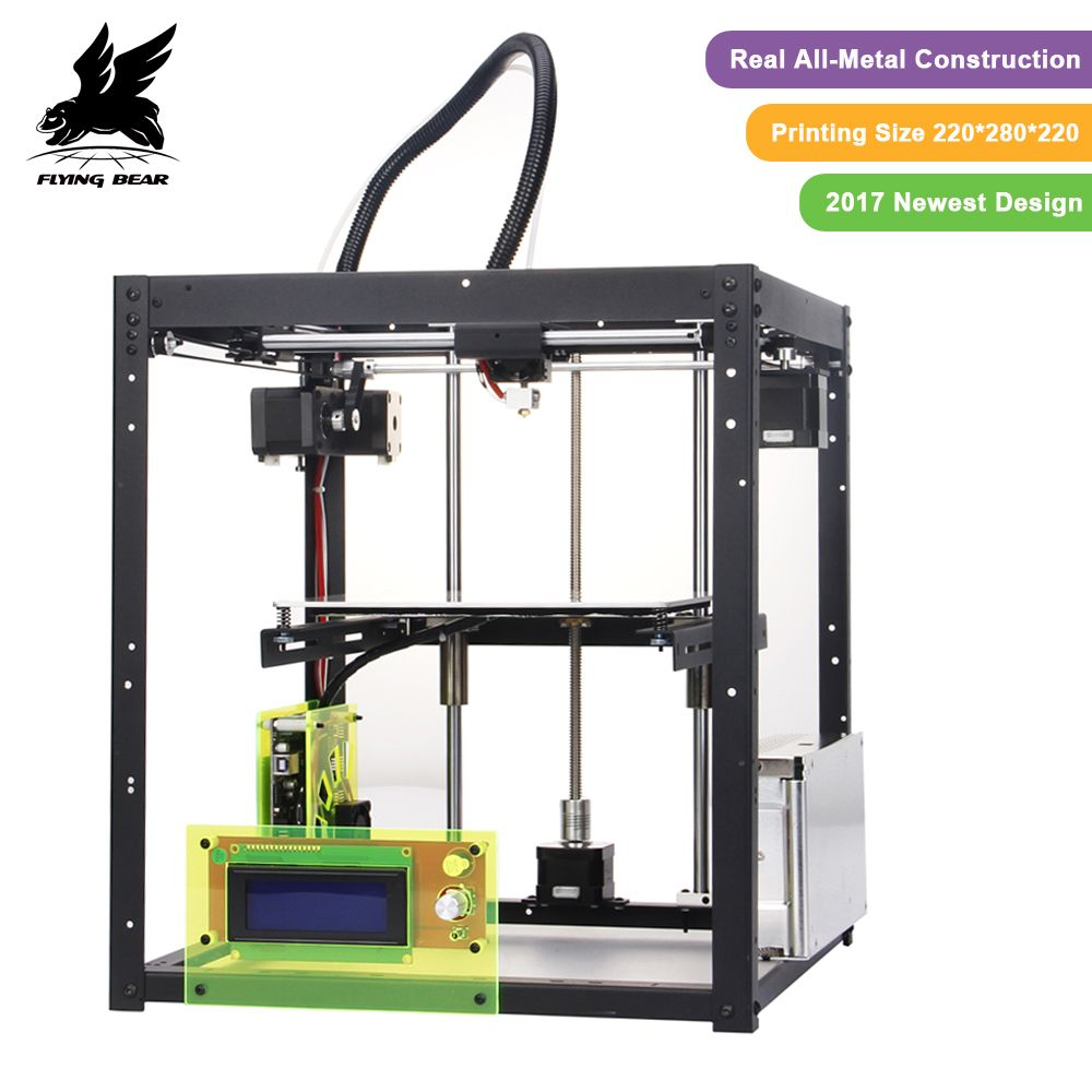 3D drucker kit FlyingBear P905 Alle Metall Dual Extruder Auto Nivellierung Makerbot Struktur DIY 3D Drucker