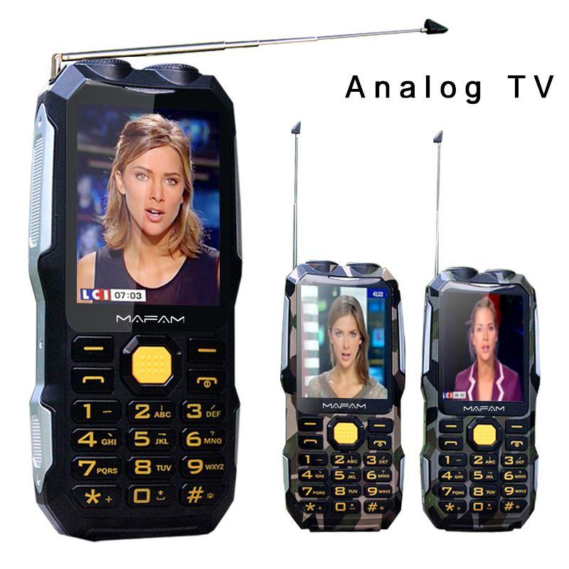 Mampa D2016 magique voix double lampe de poche FM 13800mAh MP3 MP4 antenne de batterie externe analogique TV robuste téléphone Mobile clé russe