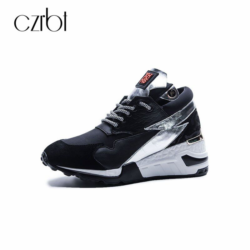 CZRBT Womens Flats Casual Shoes 2018 Spring Autumn Genuine Leather Platform Sneakers Plus Size Comfortable Walking Shoes Women