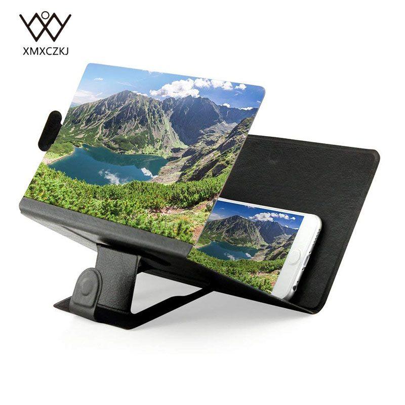 Phone Screen Magnifier Cellphone Projector Enlarged Amplifier Mobile Bracket Desktop Holder 3D HD Movie Video Stand For Phone