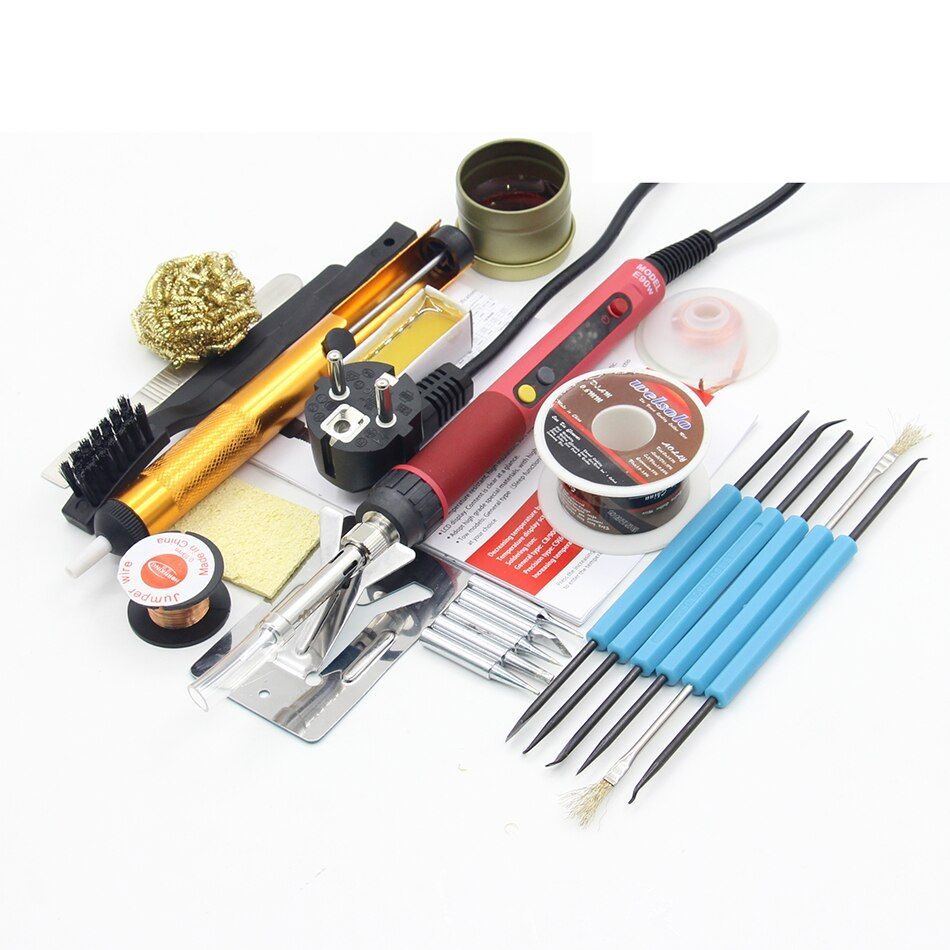 CXG E90WT Electric Soldering Iron AC110V 220V 90W rework soldering irons welding station 900M tips LCD digital upgrade E90W Kit