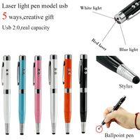 3 цвета световая лазерная ручка форма USB флешка 8 г 16 ГБ 32 ГБ 64 Гб Usb диск USB 2,0 Стилус ручка накопитель Memory Stick pendrive U диск