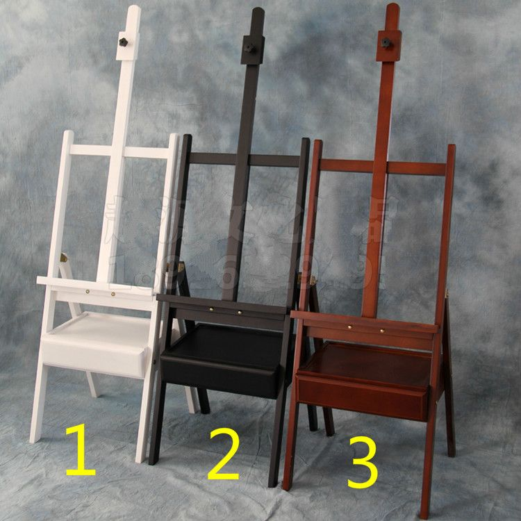 Wood cabinet painting easel with drawer sketch easel exhibition wooden stand painting easel artist cavalete painting supplies