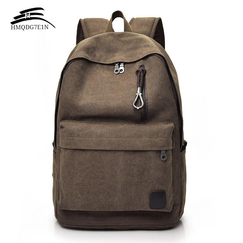 Для мужчин холст рюкзак мужской ноутбук Колледж студент Школьные ранцы для подростка Винтаж Mochila Повседневное Рюкзак Путешествия Рюкзак