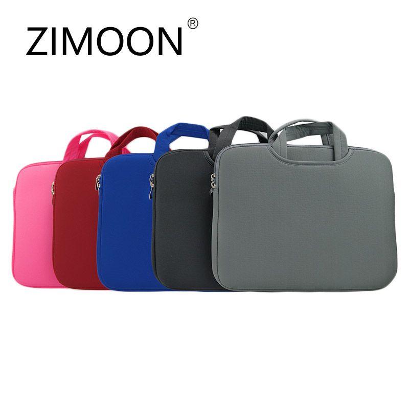 ZIMOON Tragbare Ultrabook Handlebag Weicher Laptop-tasche Intelligente Abdeckung Für 11 13 14 15 Macbook Air Pro Retina