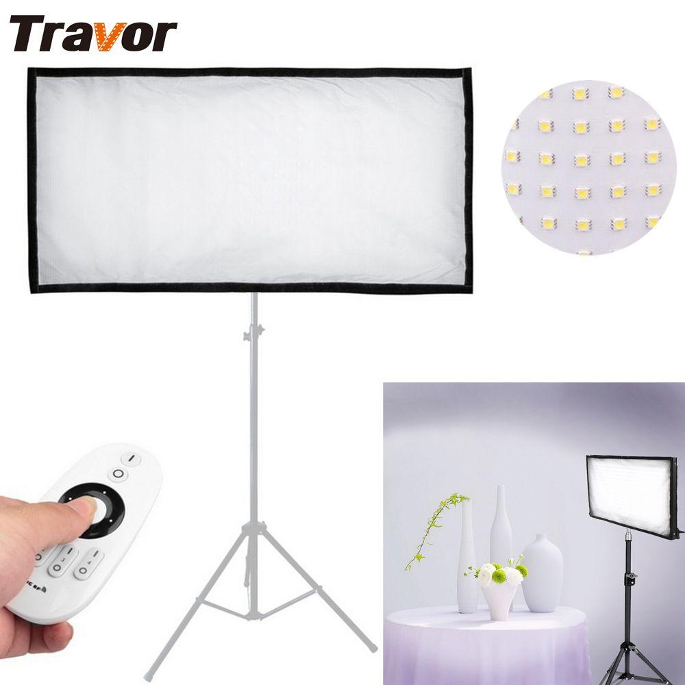 Travor Nueva Llegada FL-3060 Flexible Luz de Vídeo LED 448 unids LEDs CRI95 5500 K 2.4G Contol Remoto para Fotografía Shooting