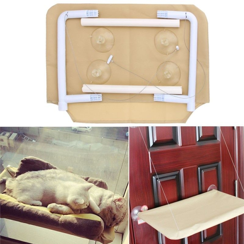 High Quality 20KG Cat Basking Window Hammock Perch Cushion Bed Hanging Shelf Seat Great for Multiple Cats of Household