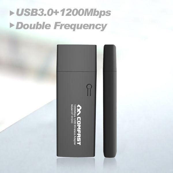 Offre spéciale COMFAST CF-912AC 2.4G/5.8GHz double bande 802.11 ca 1200Mbps double bande USB 3.0 WI-FI WIFI sans fil adaptateur cartes réseau