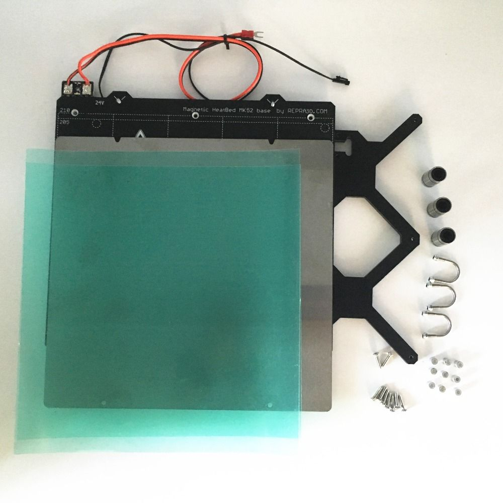 Reprap Prusa i3 mk3 3d printer heated bed full kit, with PCB magnets bed, Y carriage,steel sheet, PEI sheet, screws and spacers