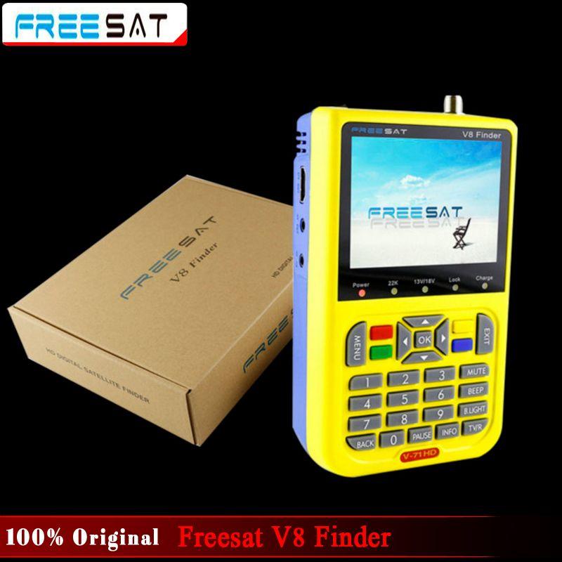 100% Оригинальные freesat V8 Finder HD DVB-S2 Высокое разрешение Satellite Finder MPEG-2 MPEG-4 freesat спутниковых Finder V8