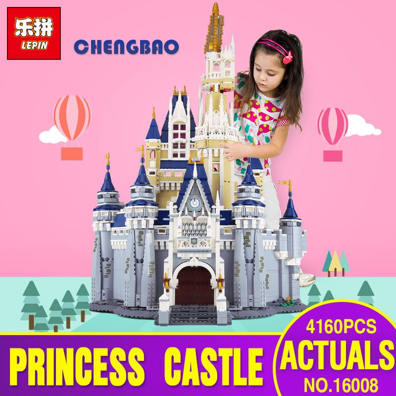 DHL LEPIN 16008 Cinderella Princess Castle City 4080pcs Model Educational Building Block Kid Toys Gift Compatible legoing 71040