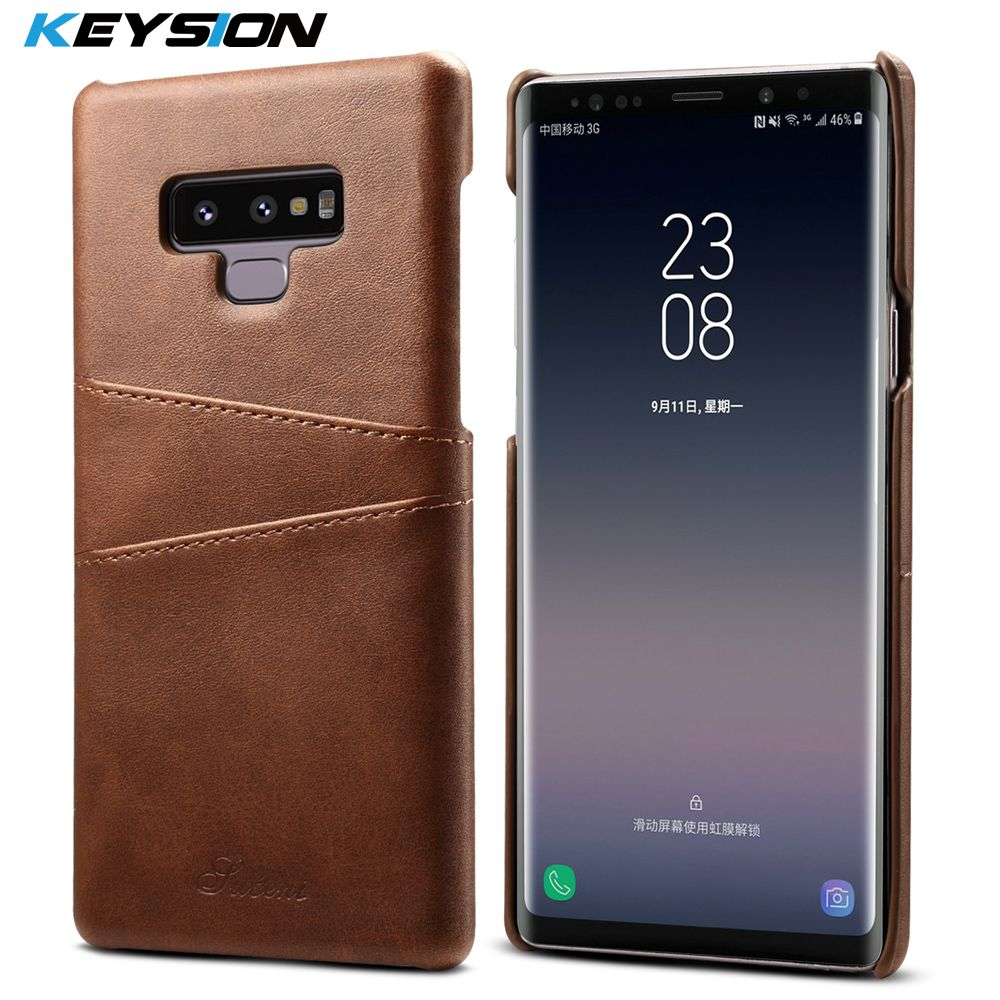 KEYSION Case For Samsung Galaxy Note 9 Leather Luxury Wallet Card Slots Soft Back Capa for Galaxy Note9 Business Cover Fundas