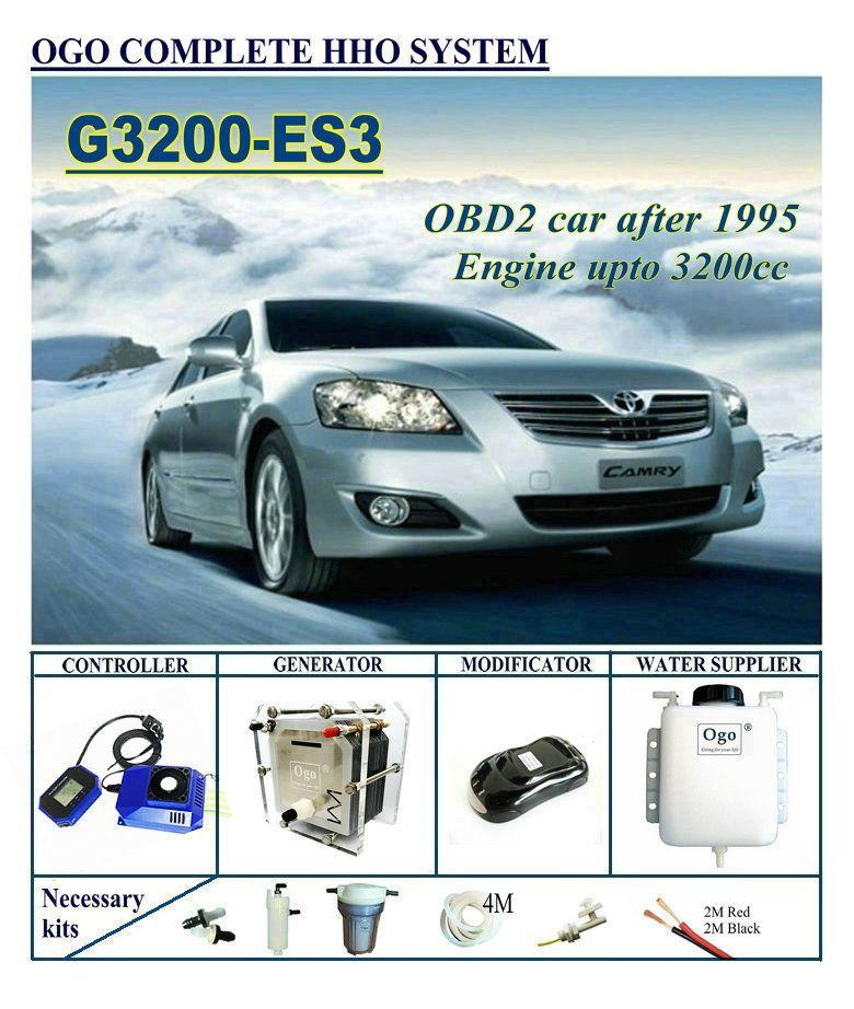 OGO Complete HHO system G3200-ES3 Smart PWM CHIP UPTO 3200CC