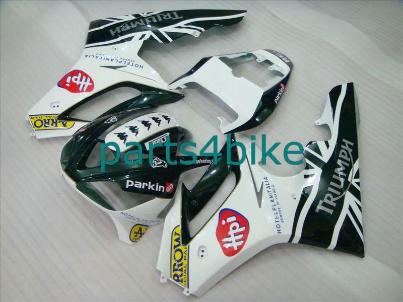 Spritzguss kunststoff verkleidungen für Triumph daytona 675 weiß schwarz motorrad verkleidung kit daytona 675 ZN23