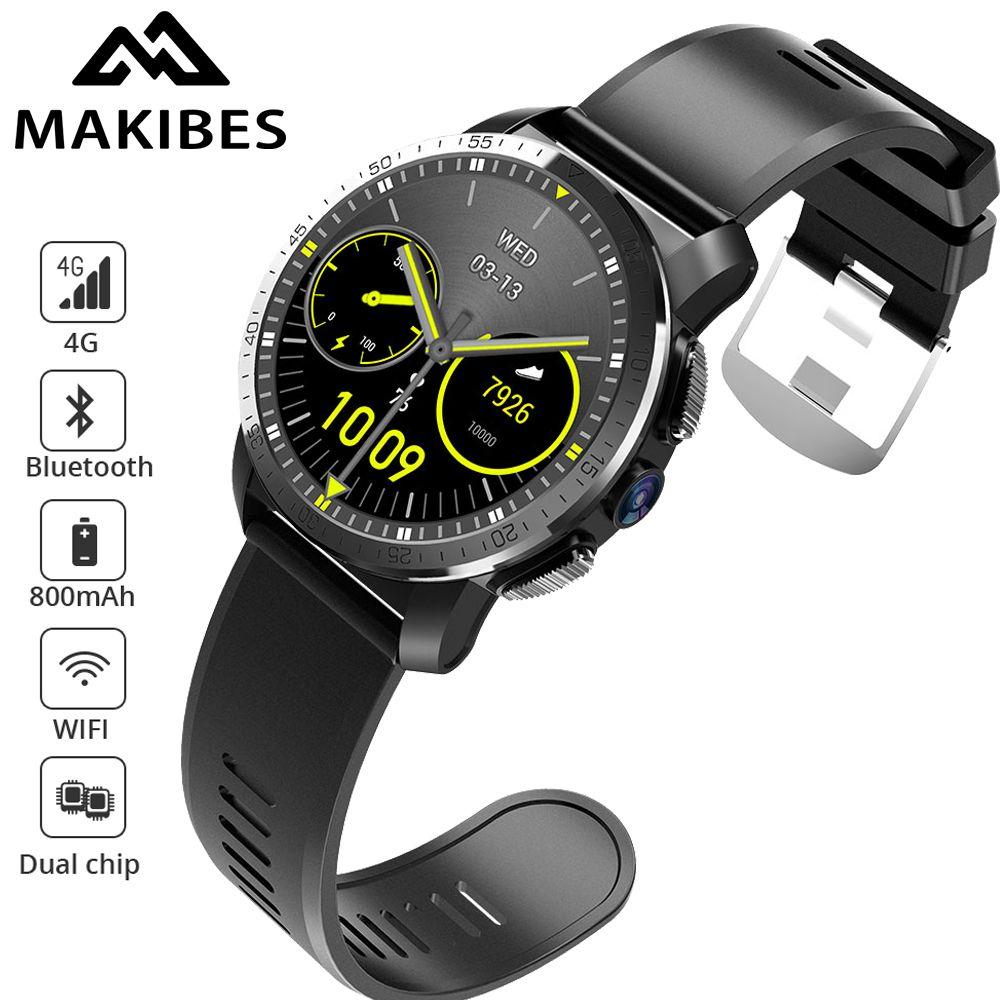 Makibes M3 4G Wasserdichte Intelligente Uhr Telefon MT6739 + NRF52840 Dual chip Android 7.1 8MP Kamera GPS 800 mAh Antwort rufen SIM TF karte