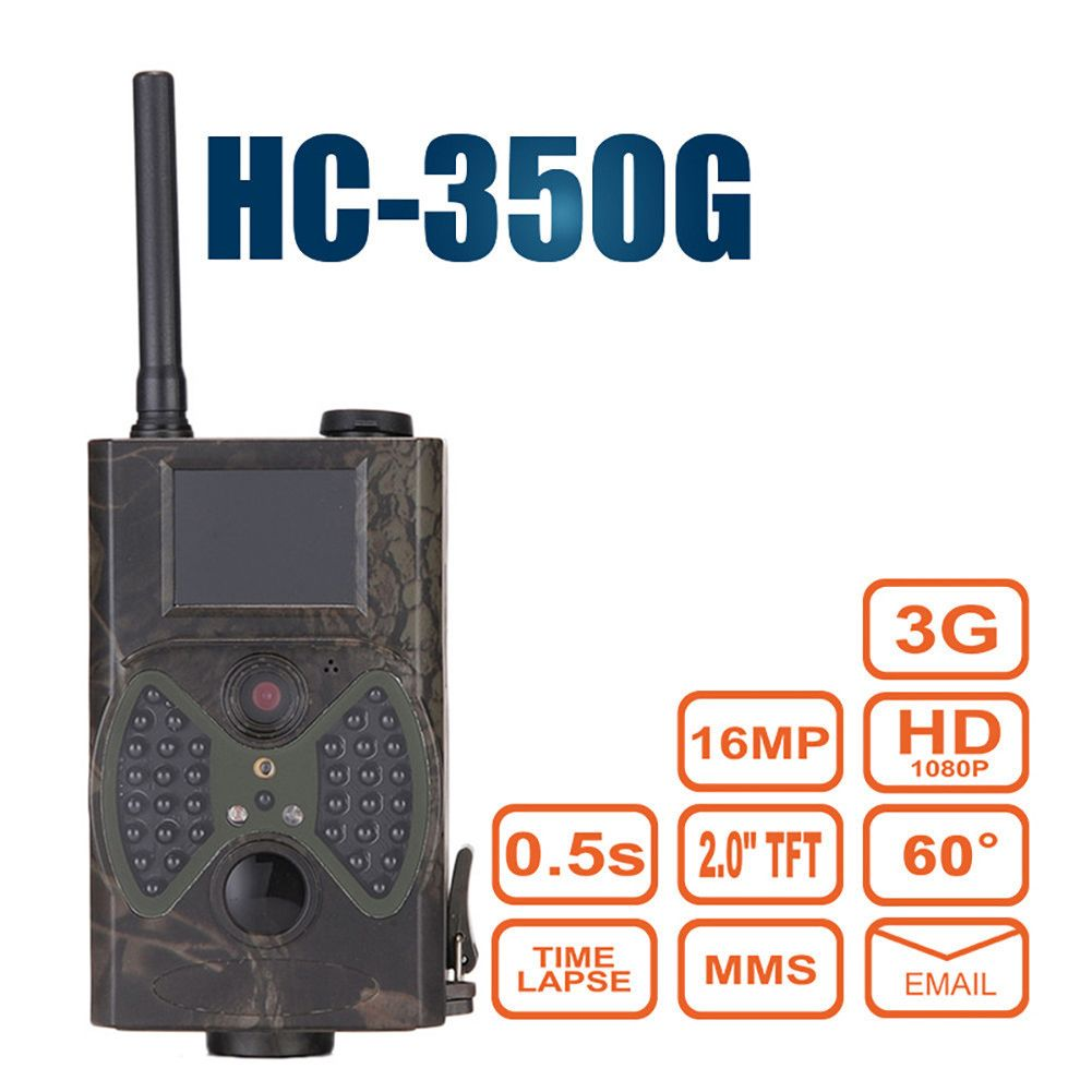HC-350G Hunting Camera 60 Degrees GSM 3G GPRS Night Vision Trap Infrared Forest Camcorder Animal Trail Scouting Camera