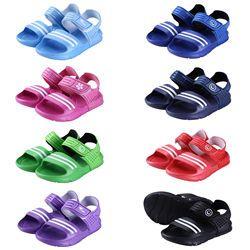Обувь для мальчиков и девочек, детские летние пляжные повседневные прогулочные спортивные сандалии, размер Великобритании