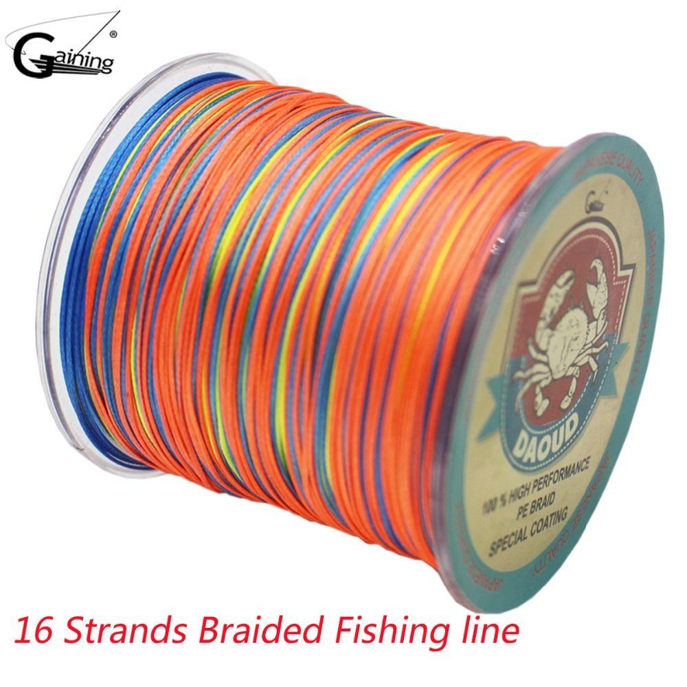 500 Mt Geflochtene Angelschnur 16 Strands Multi Farbe Super Strong Japan Multifilament PE Geflecht Linie