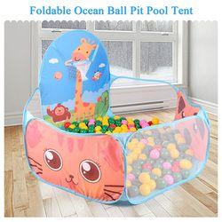 Portable Baby playpen niños Bola de interior al aire libre piscina play Tent niños seguro plegable playpens juego PISCINA DE BOLAS para niños regalos