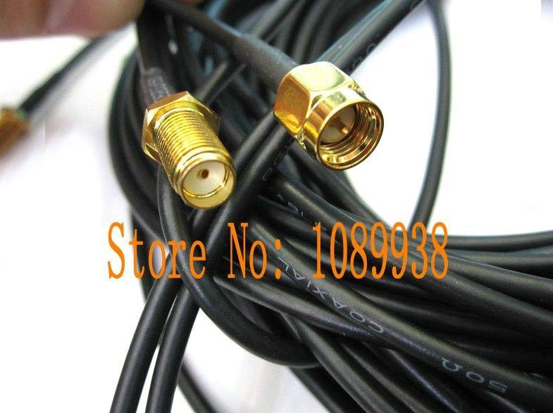 10 M WIFI câble SMA femelle vers SMA mâle Antenne Câble adaptateur câble d'extension Pigtail câble