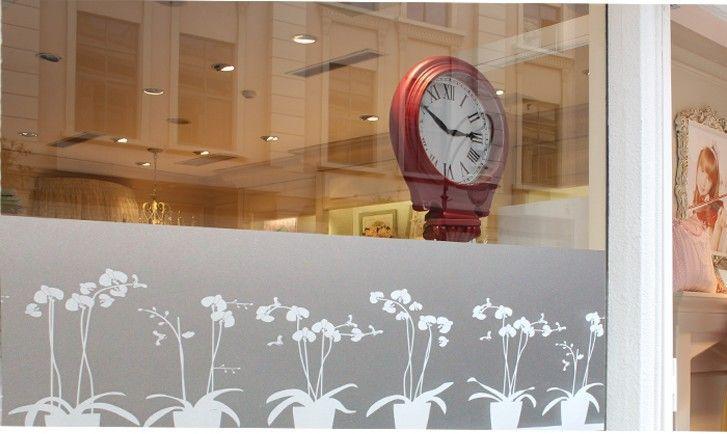 Haute qualité 45x100 cm Fower Pot Opaque vinyle givré confidentialité Film fenêtre Film décoratif Smart-Film-verre Raamfolie