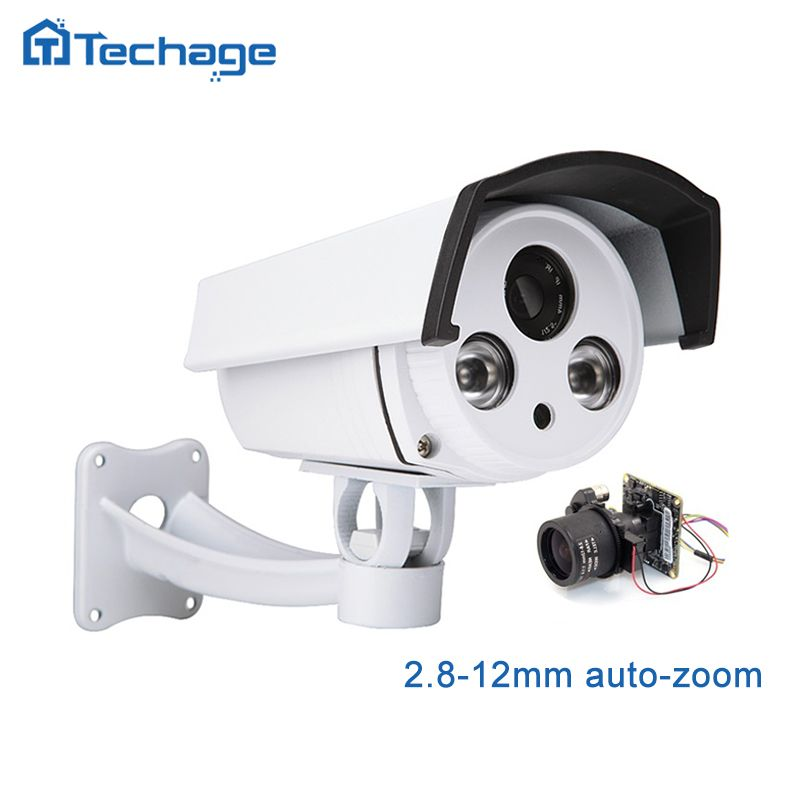 Techage 1080P HD SONY IMX322 IP POE Camera 2.8-12mm Motorized Auto Zoom Lens Outdoor Waterproof P2P ONVIF CCTV Security Camera