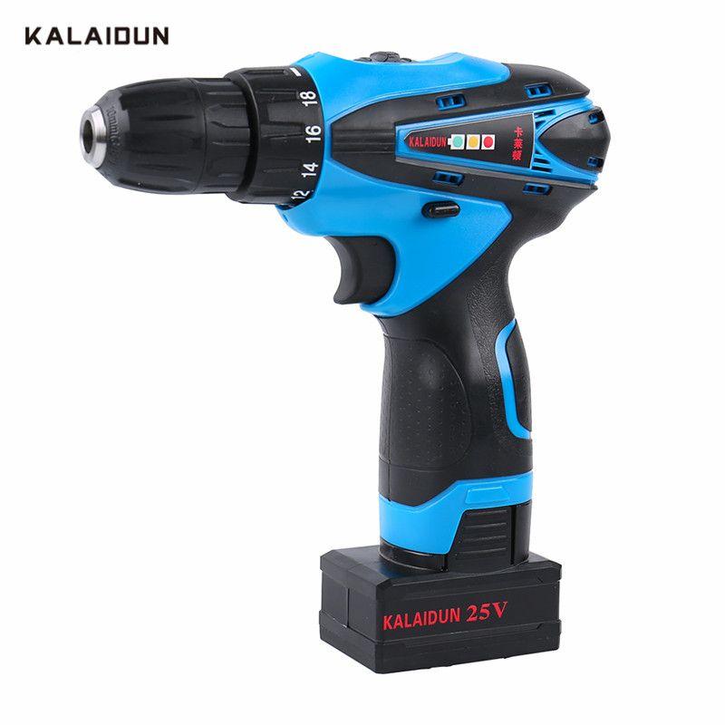KALAIDUN 25 V tournevis électrique Mobile perceuse électrique outils électriques tournevis batterie au Lithium sans fil Mini outil à main