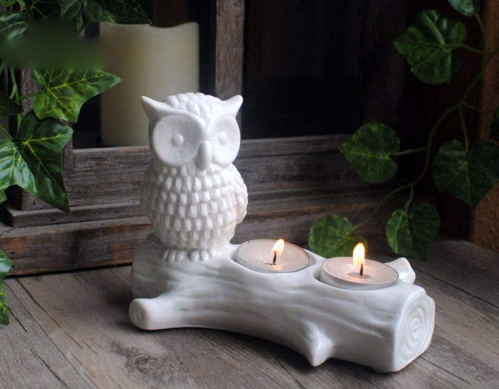 DW0034 Silikon form zement beton formen eule auf die stamm kerzenhalter Kerzenhalter handgemachte blumentopf tisch dekorative form