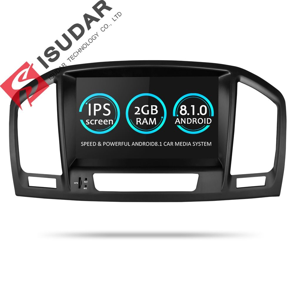 Isudar Car Multimedia Player GPS Two Din Android 8.1 DVD Automotivo For Opel/Vauxhall/Insignia CD300 CD400 2009-2012 Radio FM AM