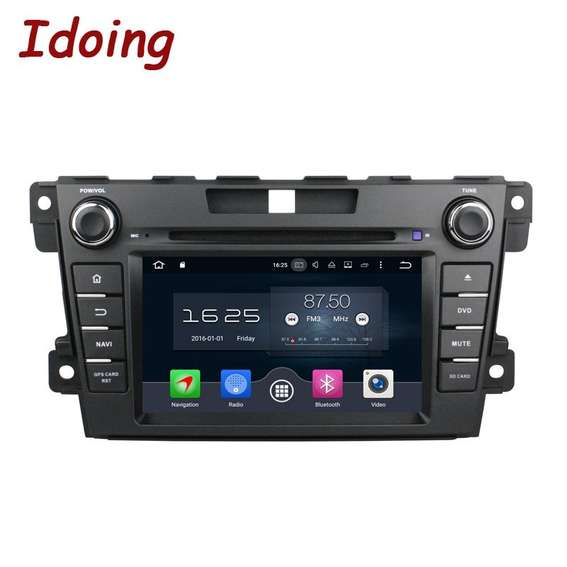 Idoing 2Din Steering Wheel Android 8.0 Fit mazda cx-7 CX 7 CX7 Car DVD Player 8Core 4G+32G GPS Navigation Touch Screen WiFi OBD2