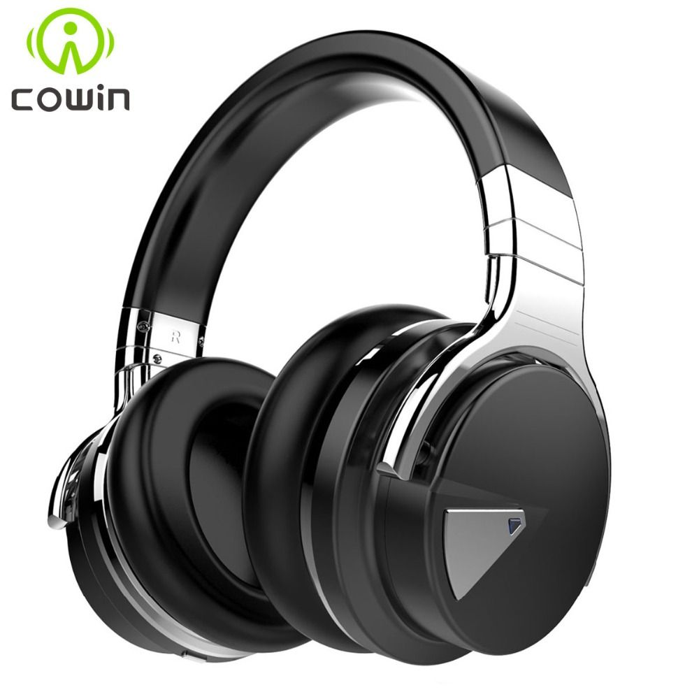 Cowin E-7 <font><b>Active</b></font> Noise Cancelling Wireless Bluetooth Headphones Deep bass Stereo Bluetooth Headset with Microphone for phone