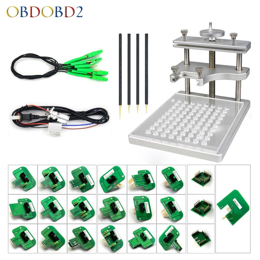 Newest Stainless Steel LED BDM Frame BDM Probe 22PCS Adapter ECU <font><b>Chip</b></font> Tuning Tools Red Board Pens For Ktag KESS FGTECH Free Ship