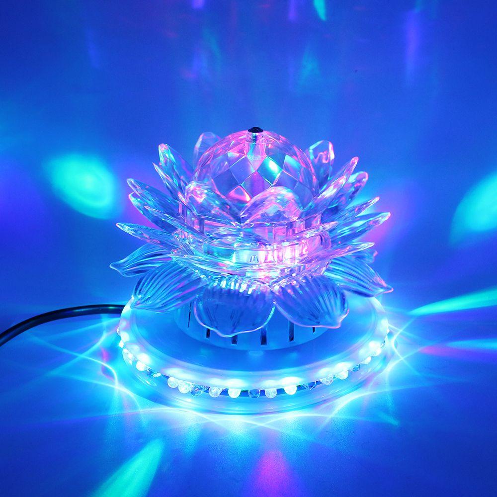 SXZM Loto Llevó la luz de la etapa de Sonido Actived Auto RGB Iluminación de la Etapa UFO con enchufe de LA UE de KTV DJ iluminación de Navidad Fiesta de La Boda decoración