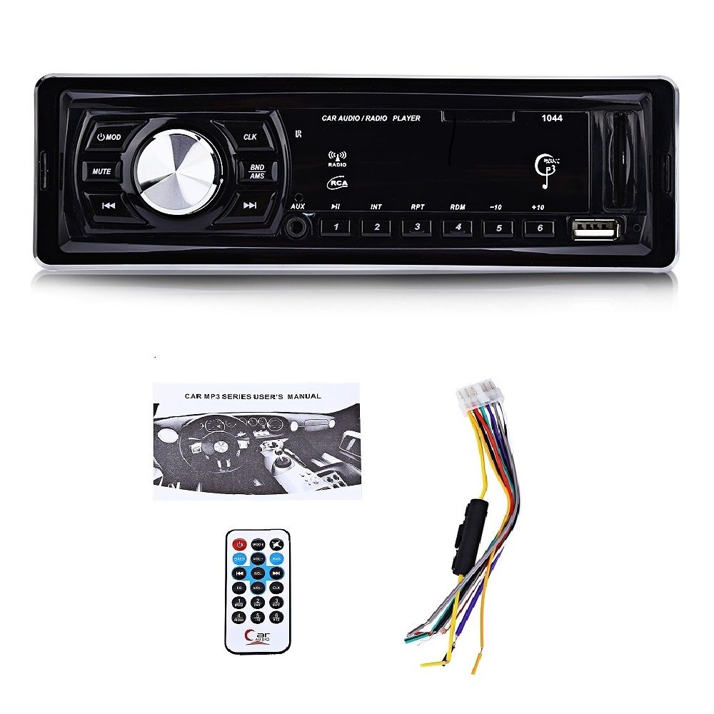 1 DIN 12V 1044 Universal Car MP3 Player FM Radio Audio Stereo LED Display Media Receiver USB SD MMC AUX Input Remote Control
