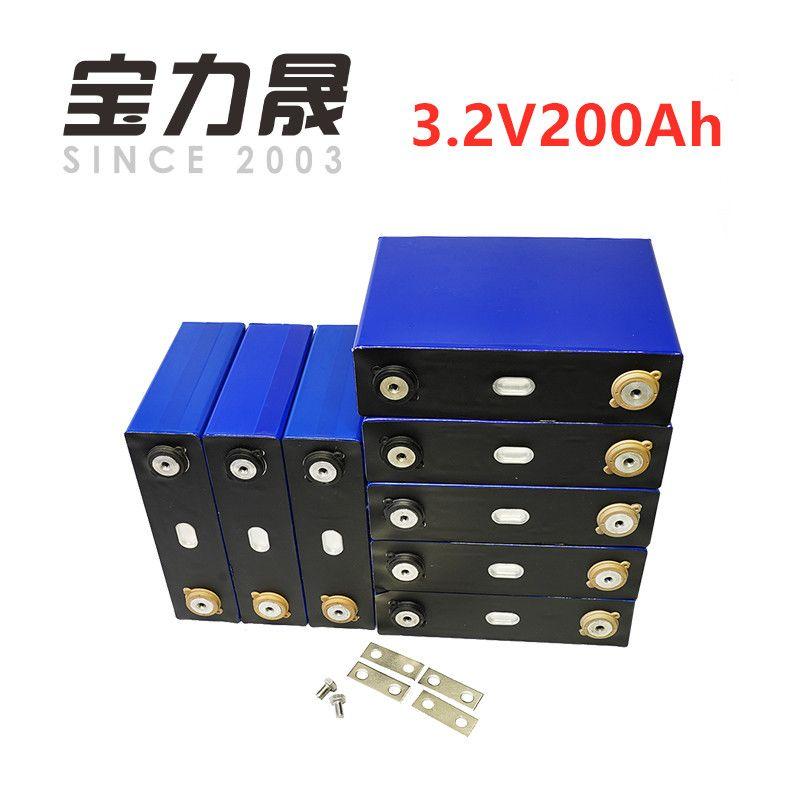 8 teile/los Tiefe Zyklus 200AH lifepo4 batterie 3,2 v 200AH 3C hohe entladung 600A strom für diy 12 V 24 V 100ah 200ah für pack EV