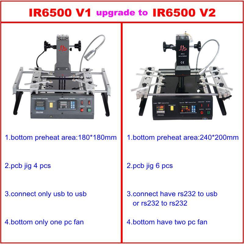 Neue version LY IR6500 V.2 IR BGA Überarbeitungsstation upgrated von IR6500 usb-anschluss 6 stücke BGA jigs boden haben zwei pc fan
