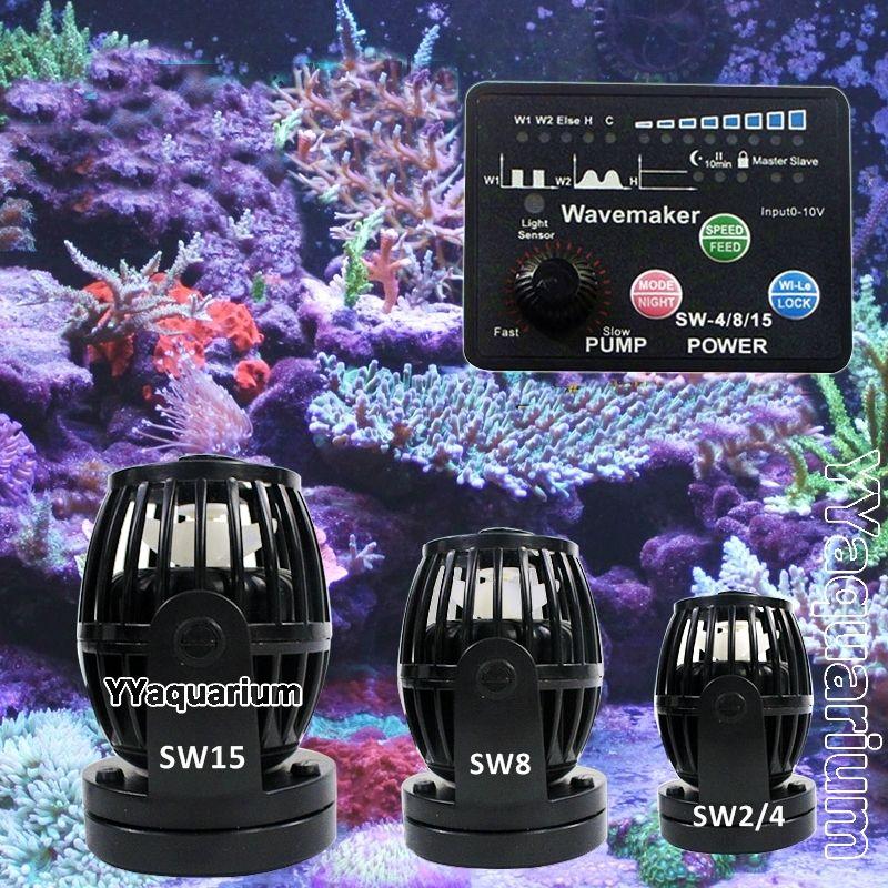 Jebao SW série Wavemaker avec contrôleur intelligent Pompe À Turbine Pour Récif Marin Poisson Étangs RW nouvelle mise à jour version # SW2 SW4 SW8 SW15