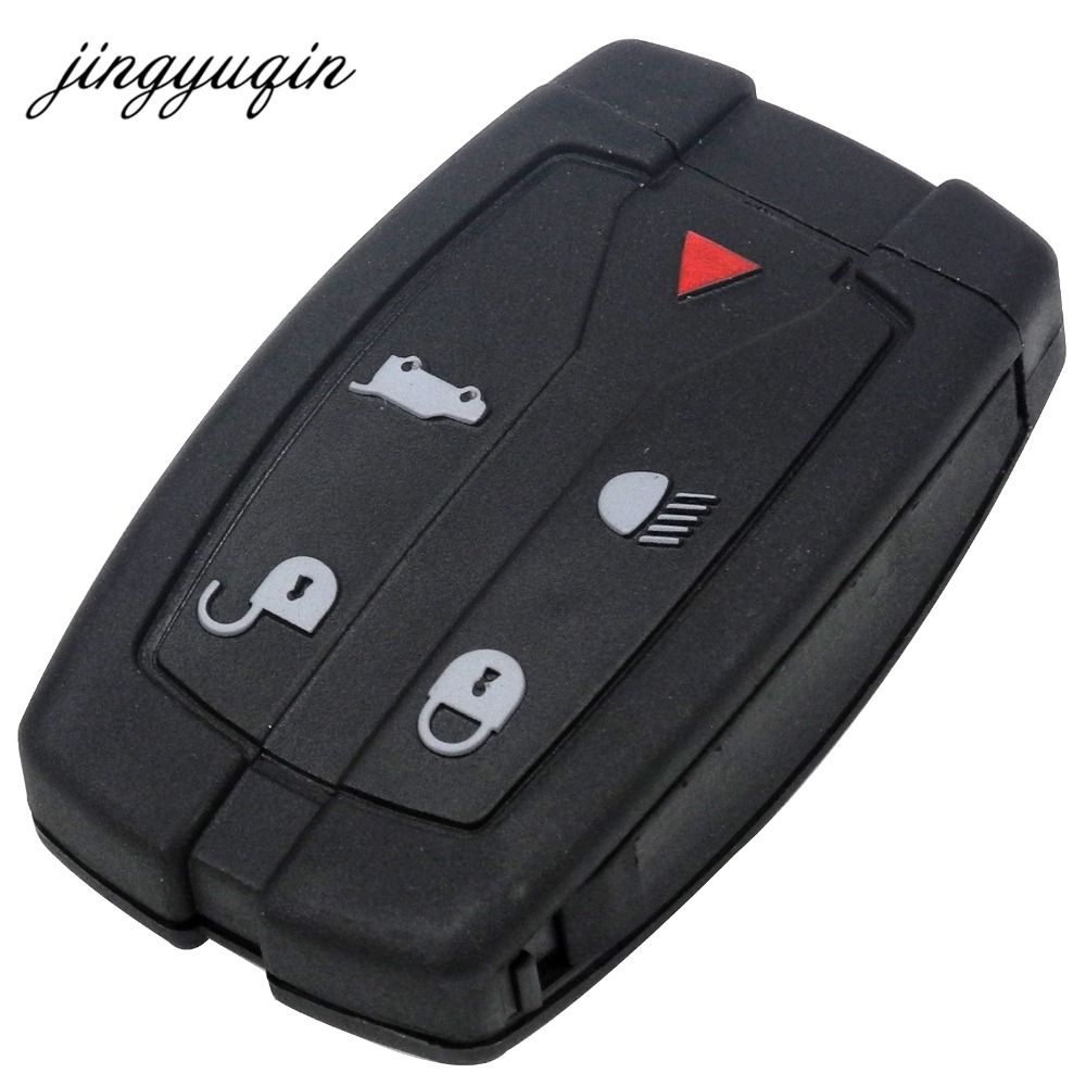 jingyuqin New 5 Buttons Remote Key Blade Fob Shell Case Fit For Land Rover Freelander 2 3 Replacement Free Shipping