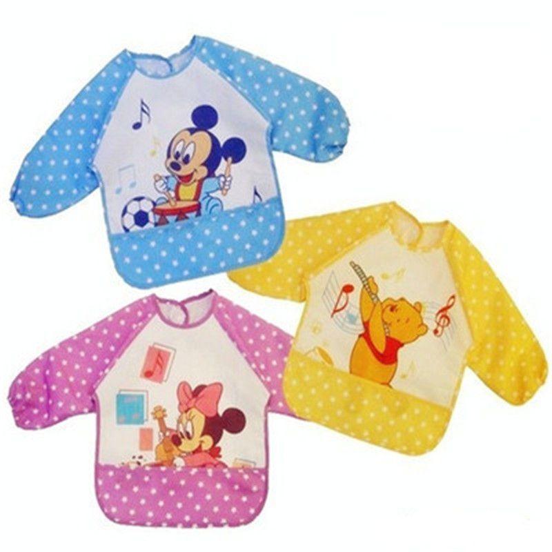 Baby Bib Long Sleeve Waterproof Feeding Baby Bibs For Lunch Baberos Bebes Cartoon Baby Clothing Baby Bibs Waterproof 0-2 Years