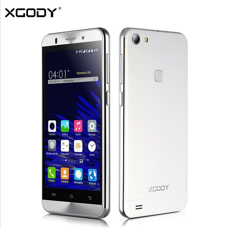 XGODY X15S 5.0 Inch 3G Smartphone Android 5.1 MTK6580M Quad Core 1GB RAM 8GB ROM WiFi GPS Mobile Phone Cell Phone 5.0MP Dual Sim